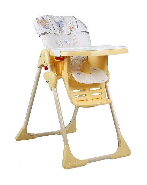 Стул детский для кормления Globex Космик, регулируемый (белый) УТ0008236