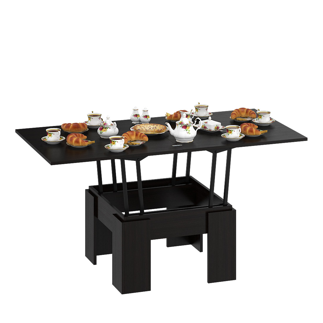 Журнальный столик Delice Бета 1668001 80(160)х80х47,5(81,5)