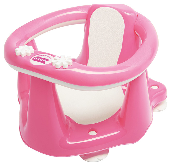 Купить Стульчик в ванну Ok Baby Flipper Evolution ярко-розовый, Стульчики для купания малыша