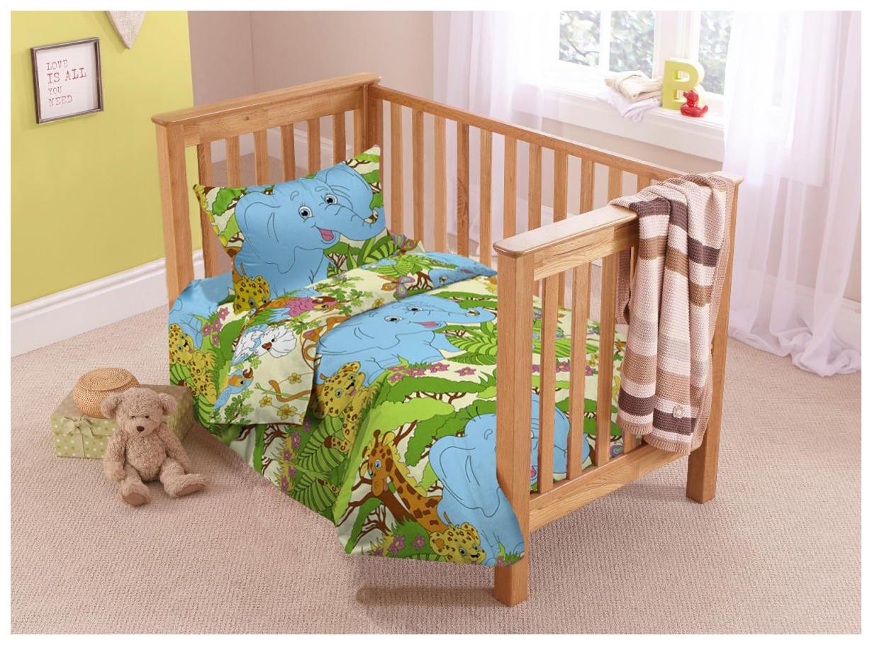 Купить Комплект детского постельного белья ЭГО Джунгли, поплин, Комплекты детского постельного белья