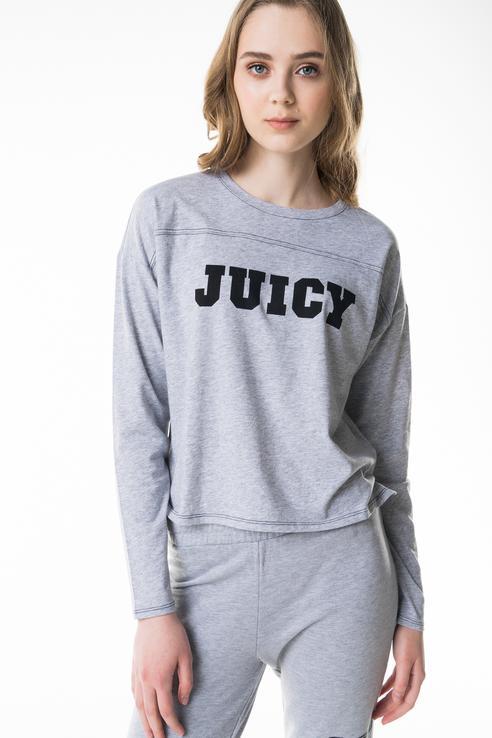 Лонгслив женский Juicy by Juicy Couture JWTKT120706/049 серый S фото