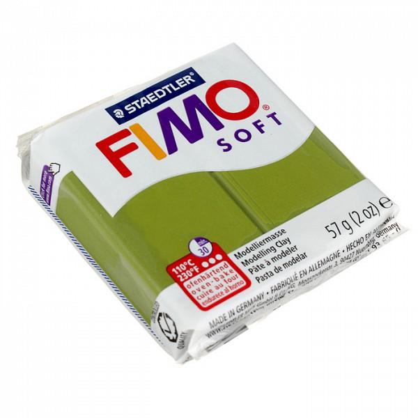 Полимерная глина запекаемая FIMO leather-effect, 57 г, оливковый Staedtler