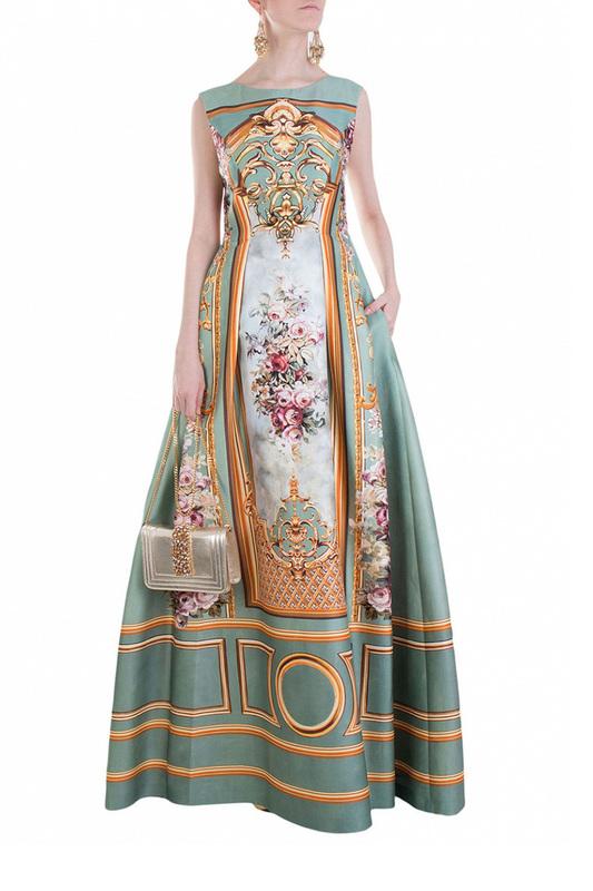 Платье женское Alberta Ferretti 80418 голубое 42 IT