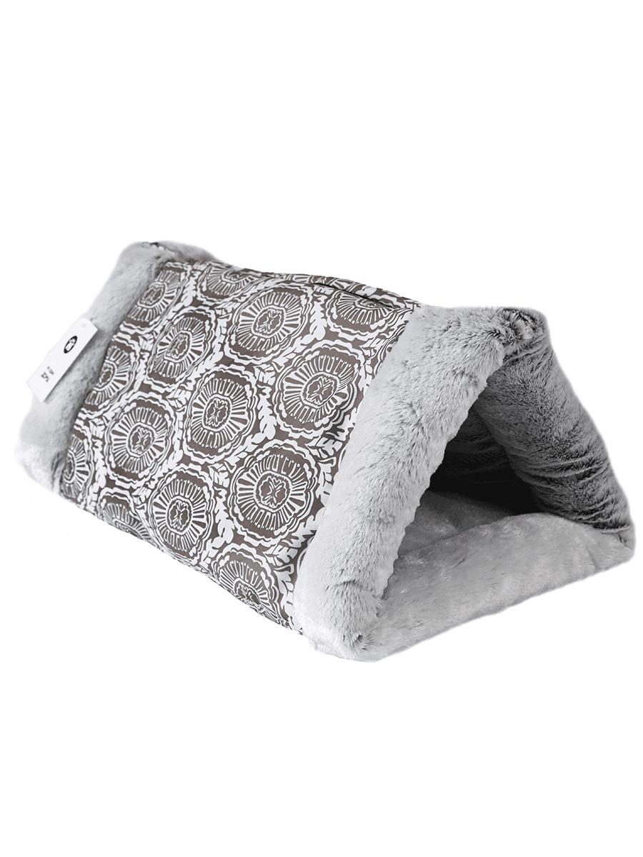 Домик-тоннель для домашних животных Не Один Дома Кроличья нора, серый, 32х23х23 см