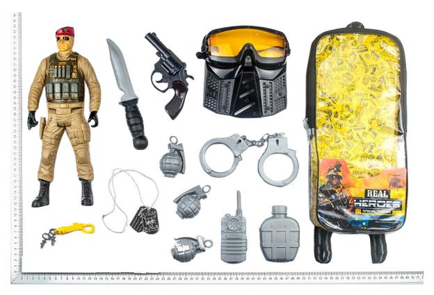 Игровой Набор Junfa Toys Военный Wg-A7081 В Рюкзачке 13 Предметов