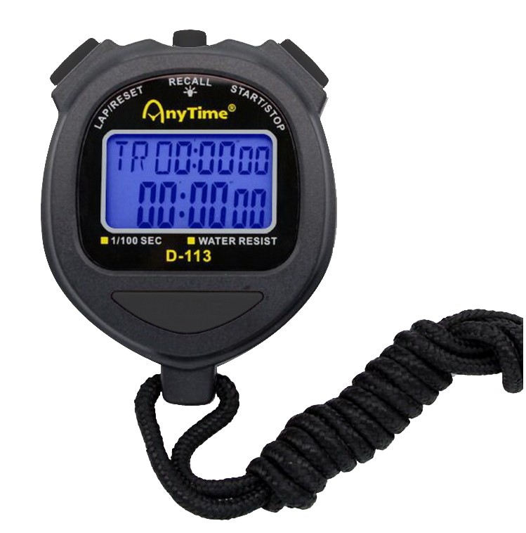Спортивный секундомер AnyTime D 113, черный, 3176.1