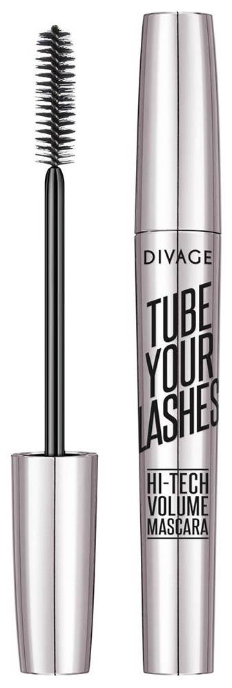 Тушь для ресниц Divage Tube Your Lashes Hi-Tech Volume Mascara 01 Black 10 мл