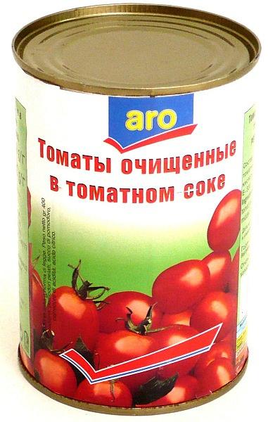 Томаты Aro очищенные в томатном соке 400 г