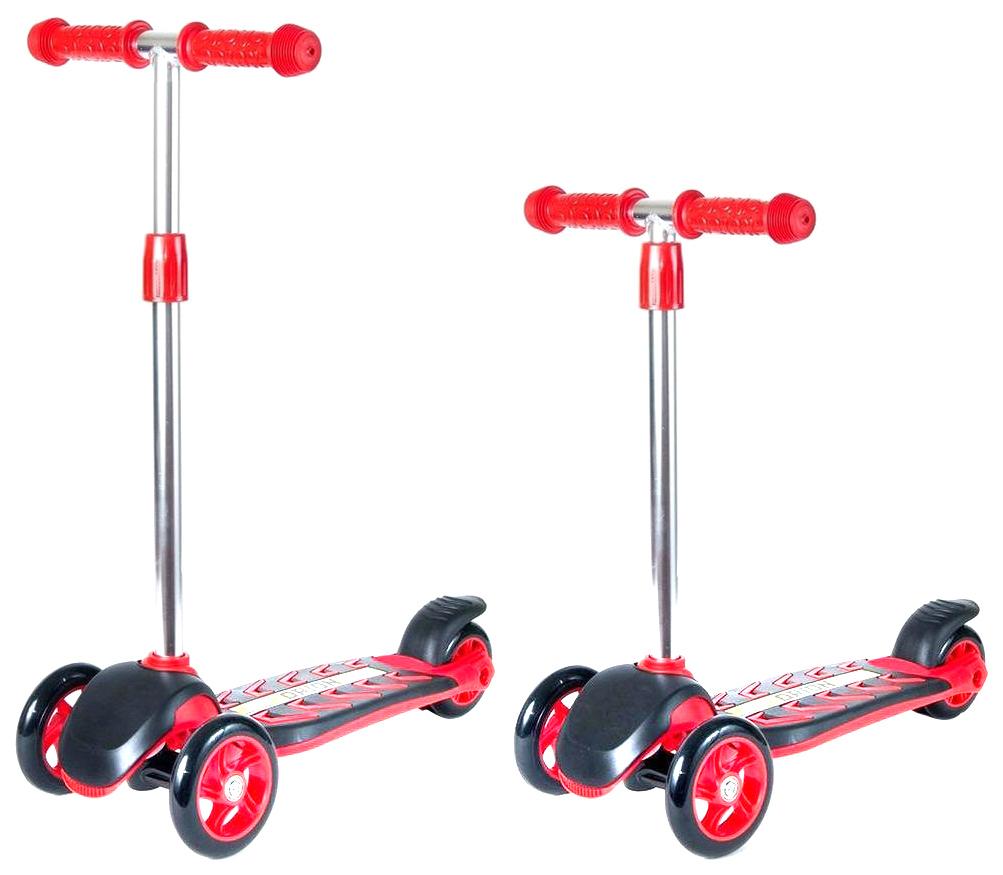 Купить Самокат RT MIDI ORION со светящимися колесами красный, R-TOYS, Самокаты детские трехколесные