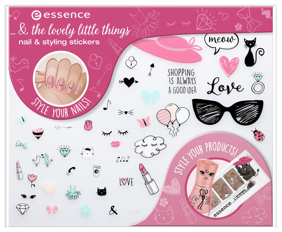 Наклейки для ногтей essence ... #and# The Lovely Little Things Nail #and# Styling Stickers