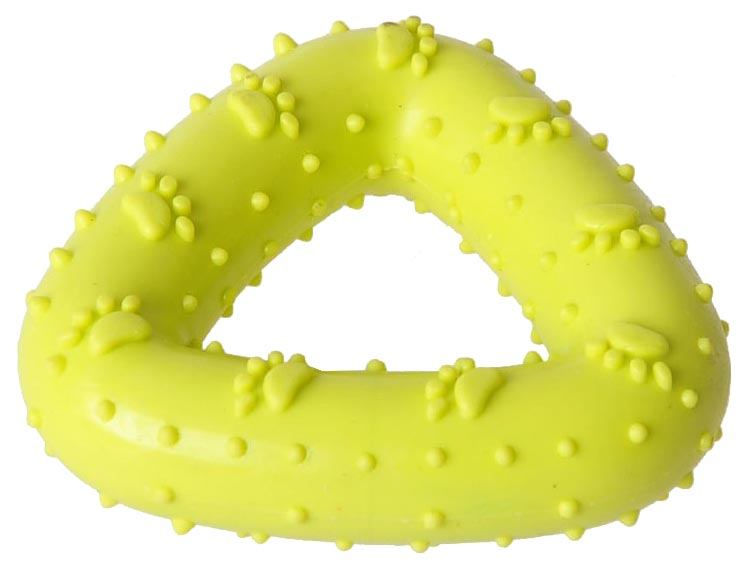 Жевательная игрушка для собак HOMEPET Треугольник, желтый, длина 7.2 см