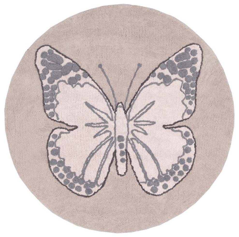 Ковер Lorena Canals бабочка винтажный бежевый 160D
