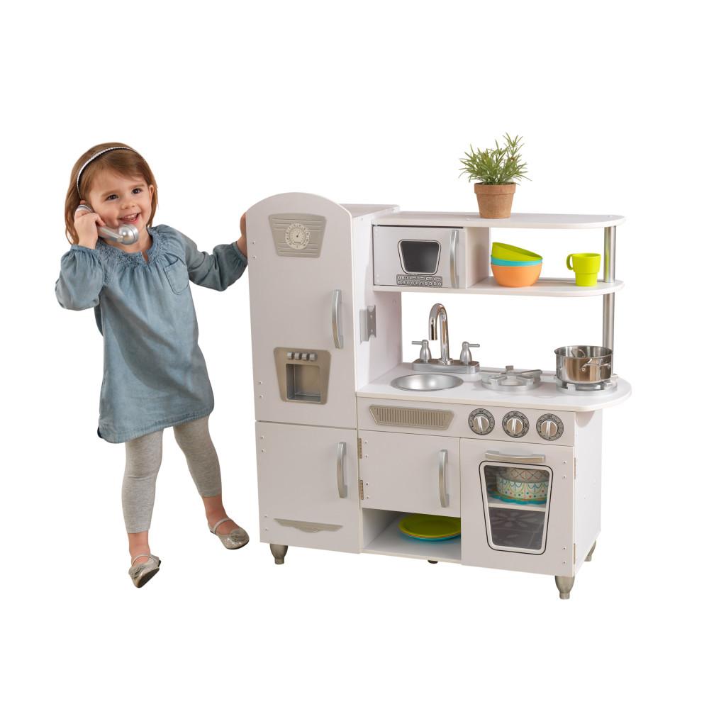 Купить Детская игрушечная кухня из дерева Винтаж цвет Белый KidKraft 53402_KE, Детская кухня
