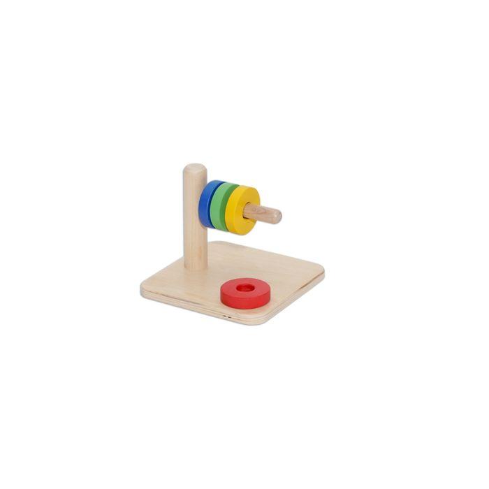 Купить Игрушки, Деревянный конструктор Paremo 51 деталь неокрашенный, Деревянные конструкторы