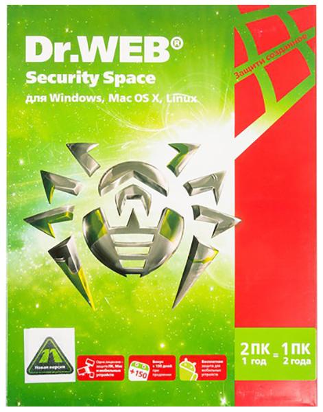 Антивирус Dr.Web Security Space BHW-B-12M-2-A3 фото