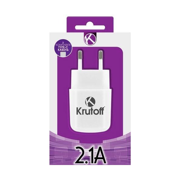 KRUTOFF CH-17 1 USB 2,1A