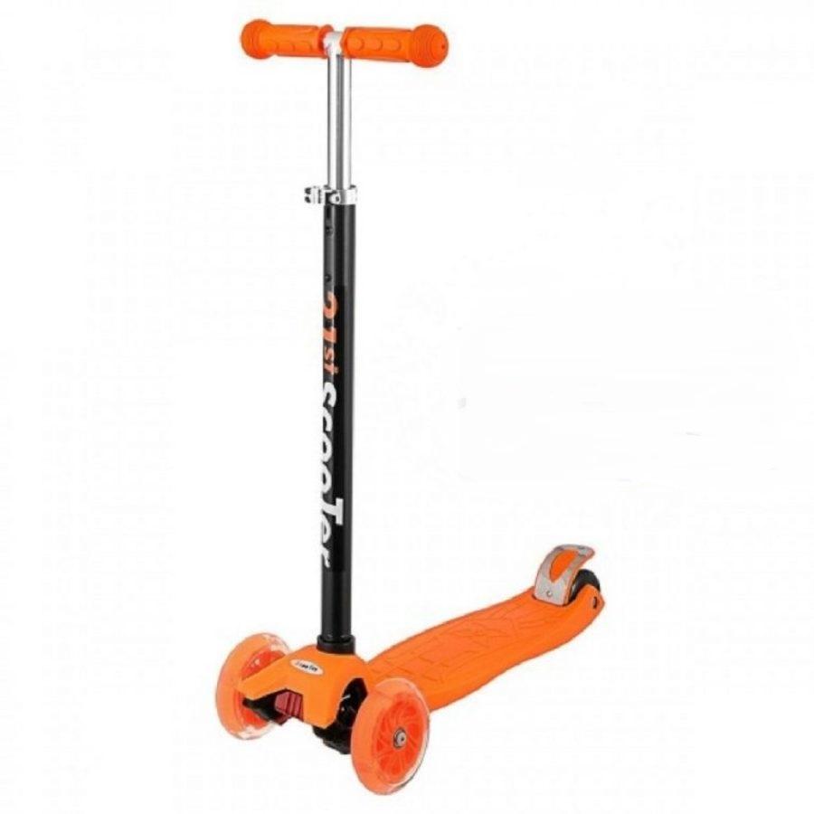 Самокат-кикборд Scooter 21ST Maxi трехколесный оранжевый