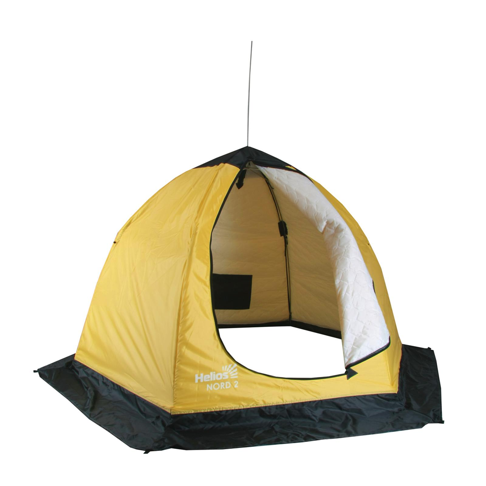 Палатка-автомат Helios Nord U двухместная желтая