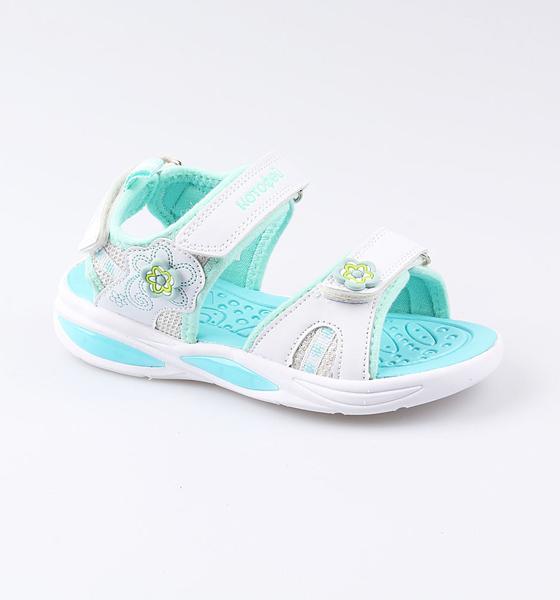 Пляжная обувь Котофей для девочки р.28 324016-13 белый