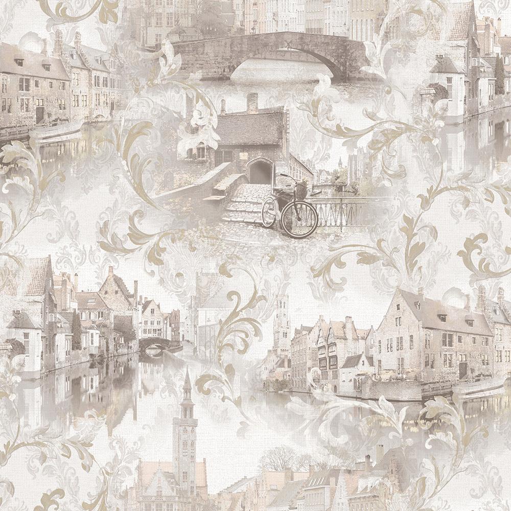 обои с рисунком города для стен наиболее частых