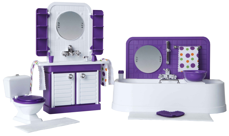 Мебель для кукол Огонек Ванная комната Конфетти