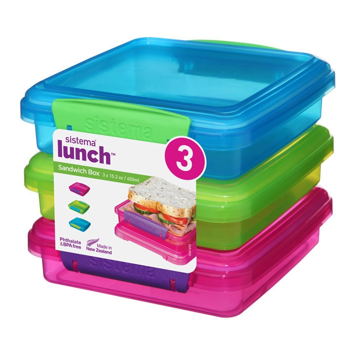 Набор контейнеров для сэндвичей Lunch (3 шт) 450 мл