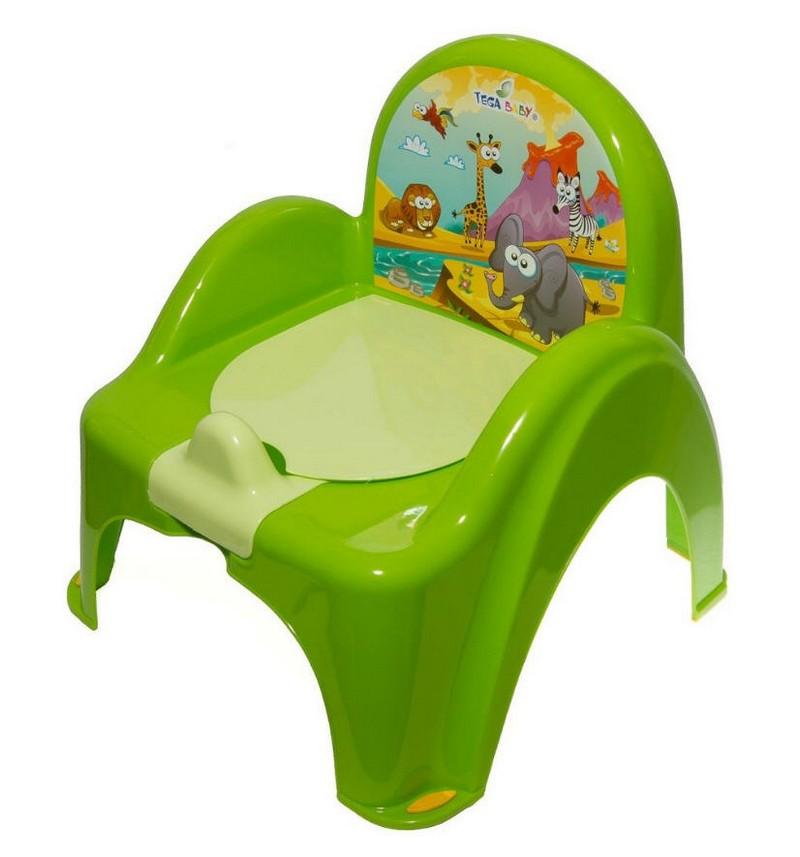 Купить Горшок Tega детский Сафари зеленый, Tega Baby,