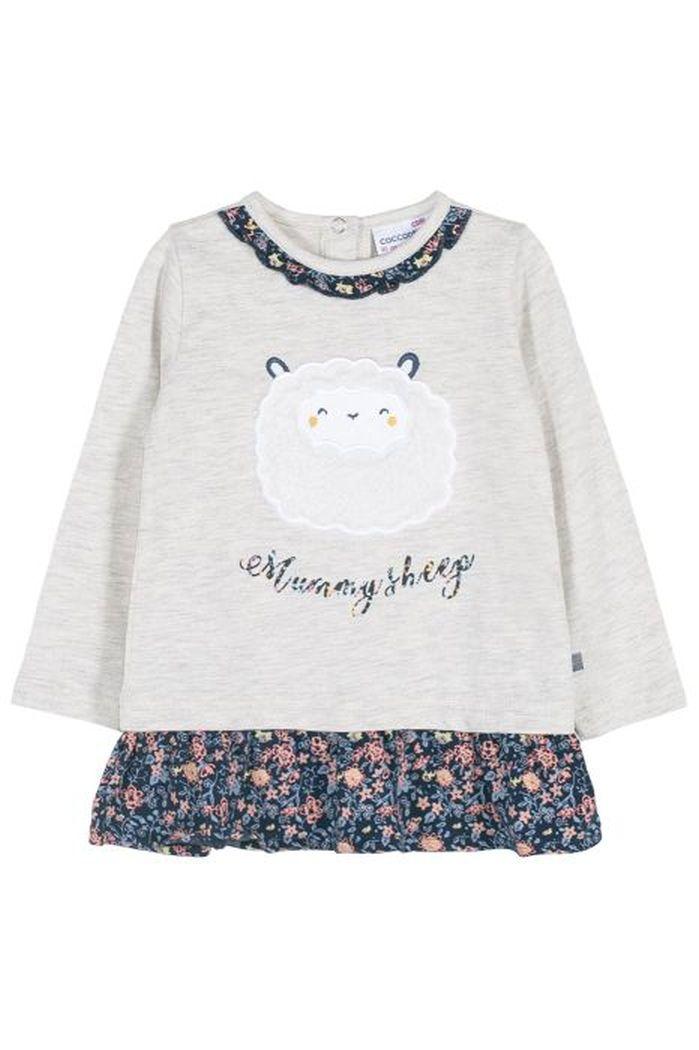 Купить Лонгслив для девочек COCCODRILLO р.68, Детские футболки, топы