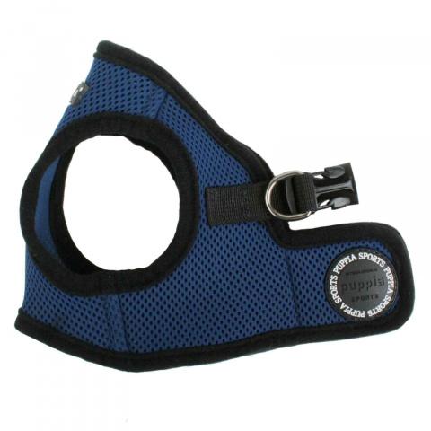 Шлейка для собак Puppia Soft Vest, синяя, размер XS