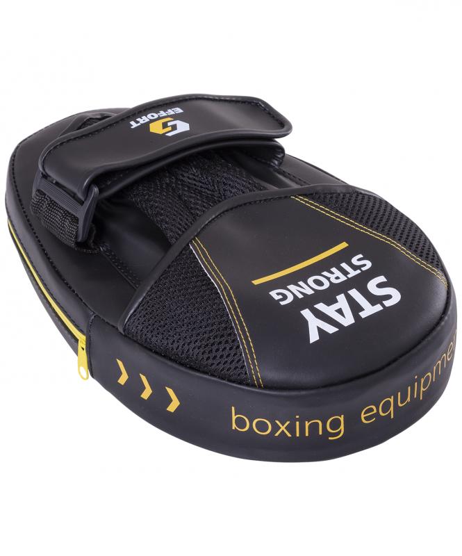 Лапа Effort E 602 2 боксерская, кожзам, черный