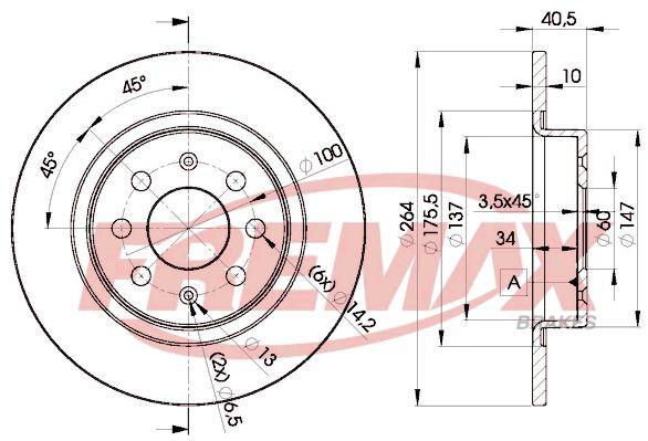 Тормозной диск FREMAX BD 0592