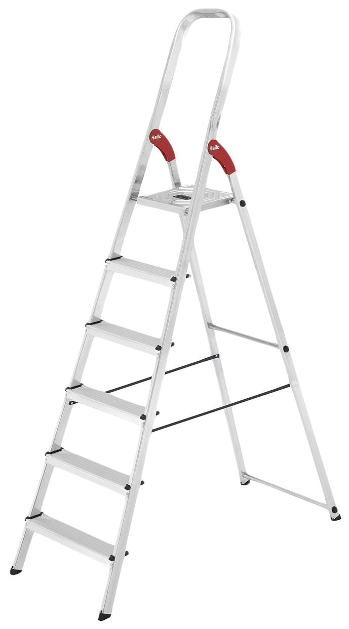 Стремянка алюминиевая Hailo L9 8926-901, 6 ступеней