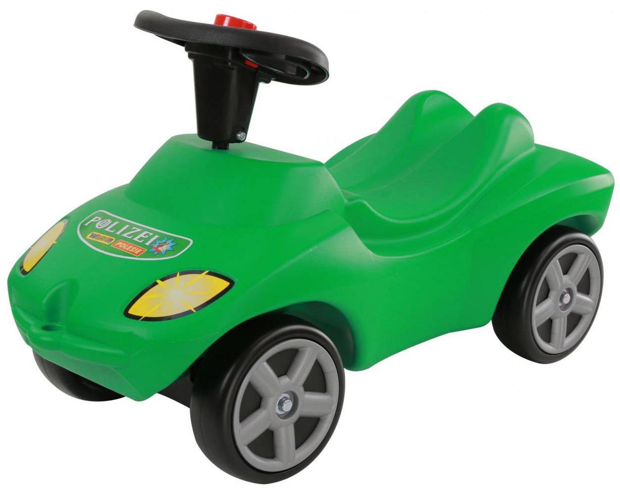 Машина-каталка Полесье Полиция Зеленый со звуковым сигналом