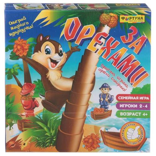 Купить Семейная настольная игра Фортуна За орехами Ф72332, Семейные настольные игры