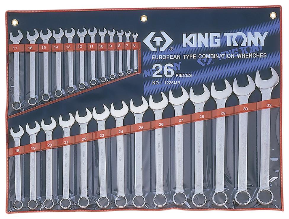 Набор комбинированных ключей KING TONY 6 32