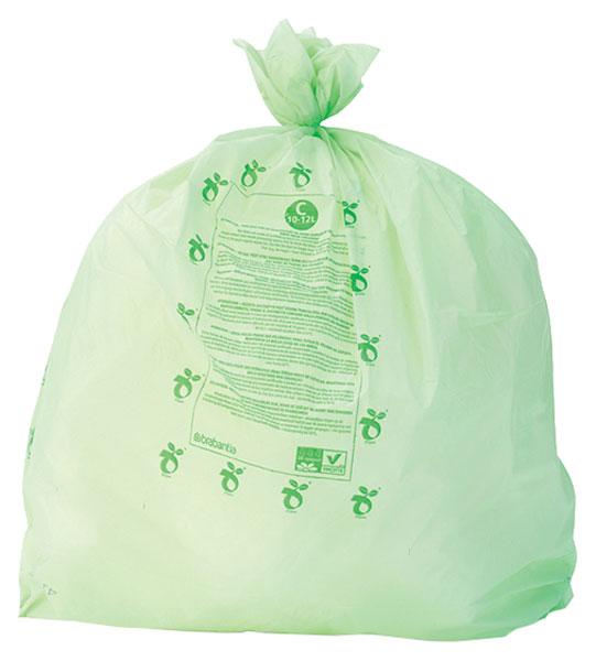 Пакет пластиковый Brabantia биоразлагаемый 10/12 л 10 шт