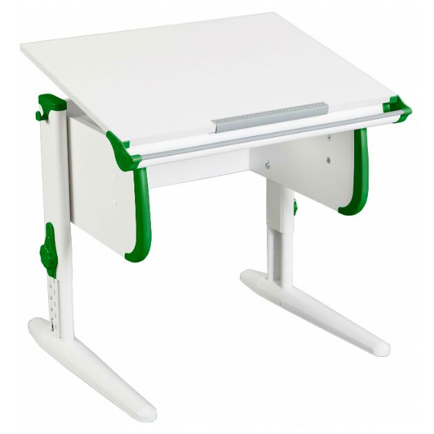 Купить СУТ-24 WHITE СТАНДАРТ ЛДСП Белый Зеленый Белый, Парта-трансформер для дома WHITE СТАНДАРТ СУТ 24 белый, зеленый, белый, , Дэми, Школьные парты
