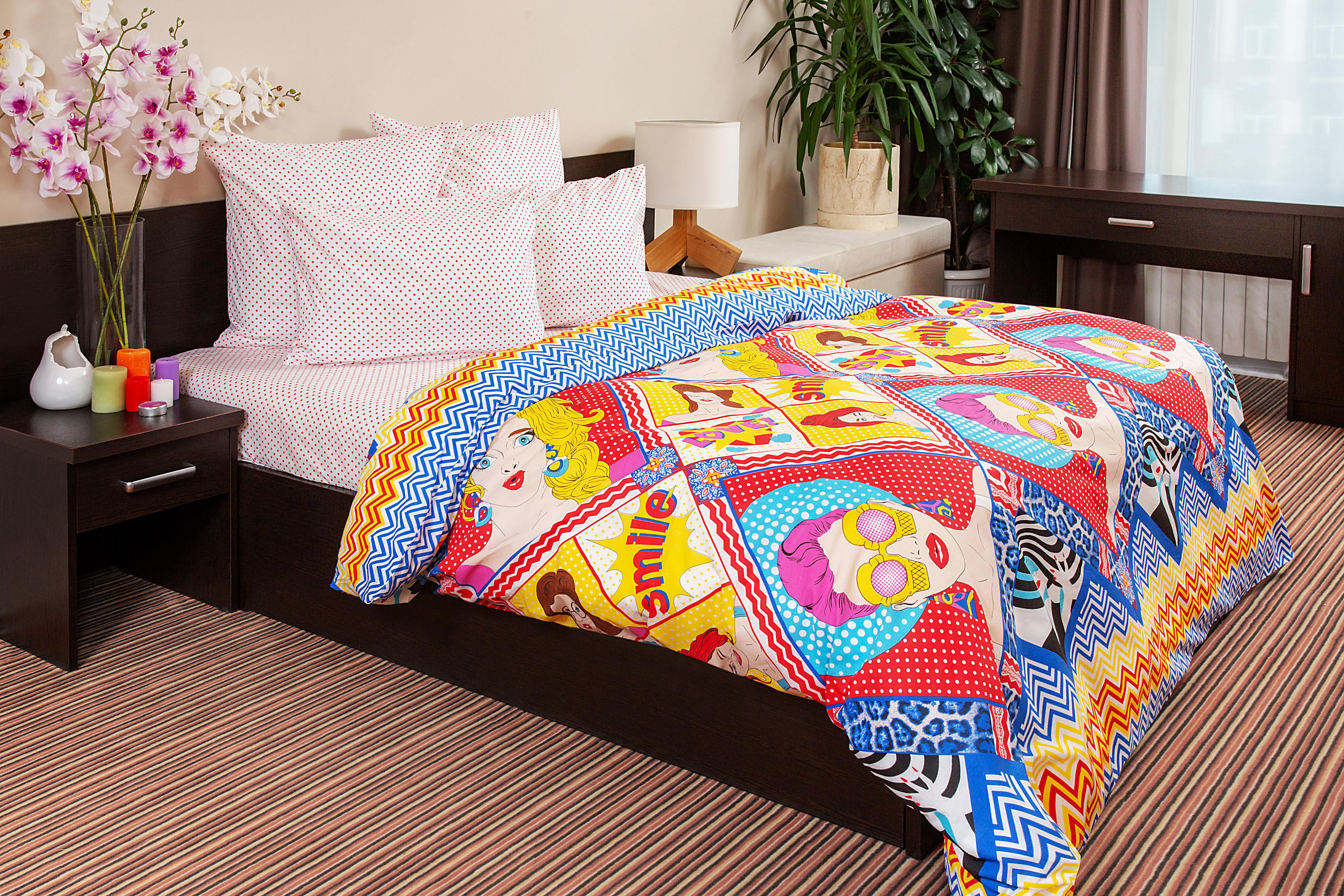 Комплект постельного белья Ночь Нежна Pop-Art евро