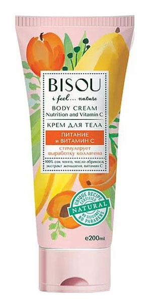 Крем для тела Bisou Питание и витамин С 200 мл