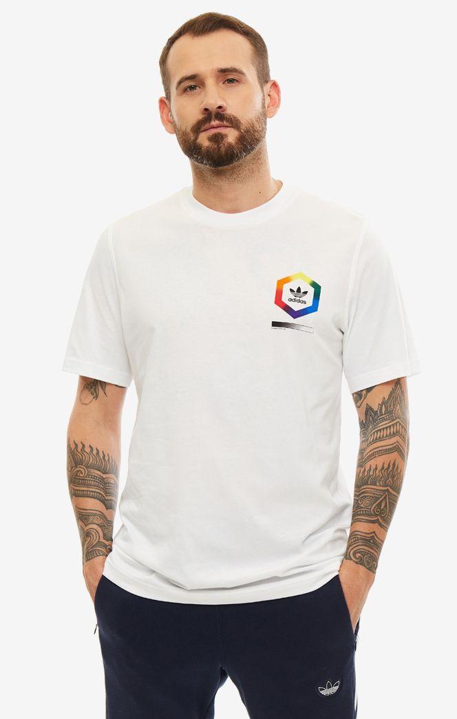 Футболка мужская adidas Originals ED6927 белая/разноцветная M