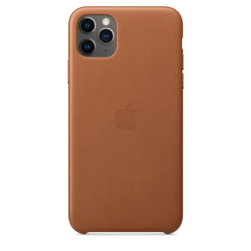 Чехол Apple для iPhone 11 Pro Max Leather Case - Saddle Brown