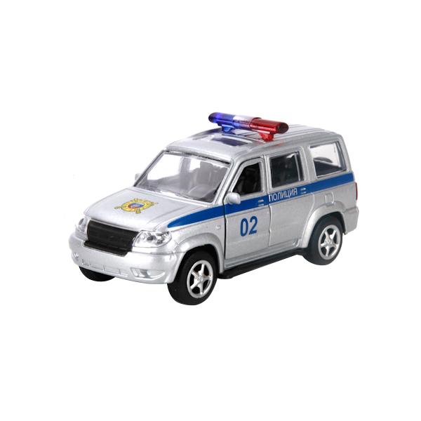 Купить Полиция УАЗ Патриот, Внедорожник инерционный Технопарк UAZ Patriot Полиция,