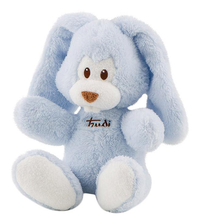 Купить Мягкая игрушка Trudi Заяц Вирджилио (голубой), 26 см, Мягкие игрушки животные