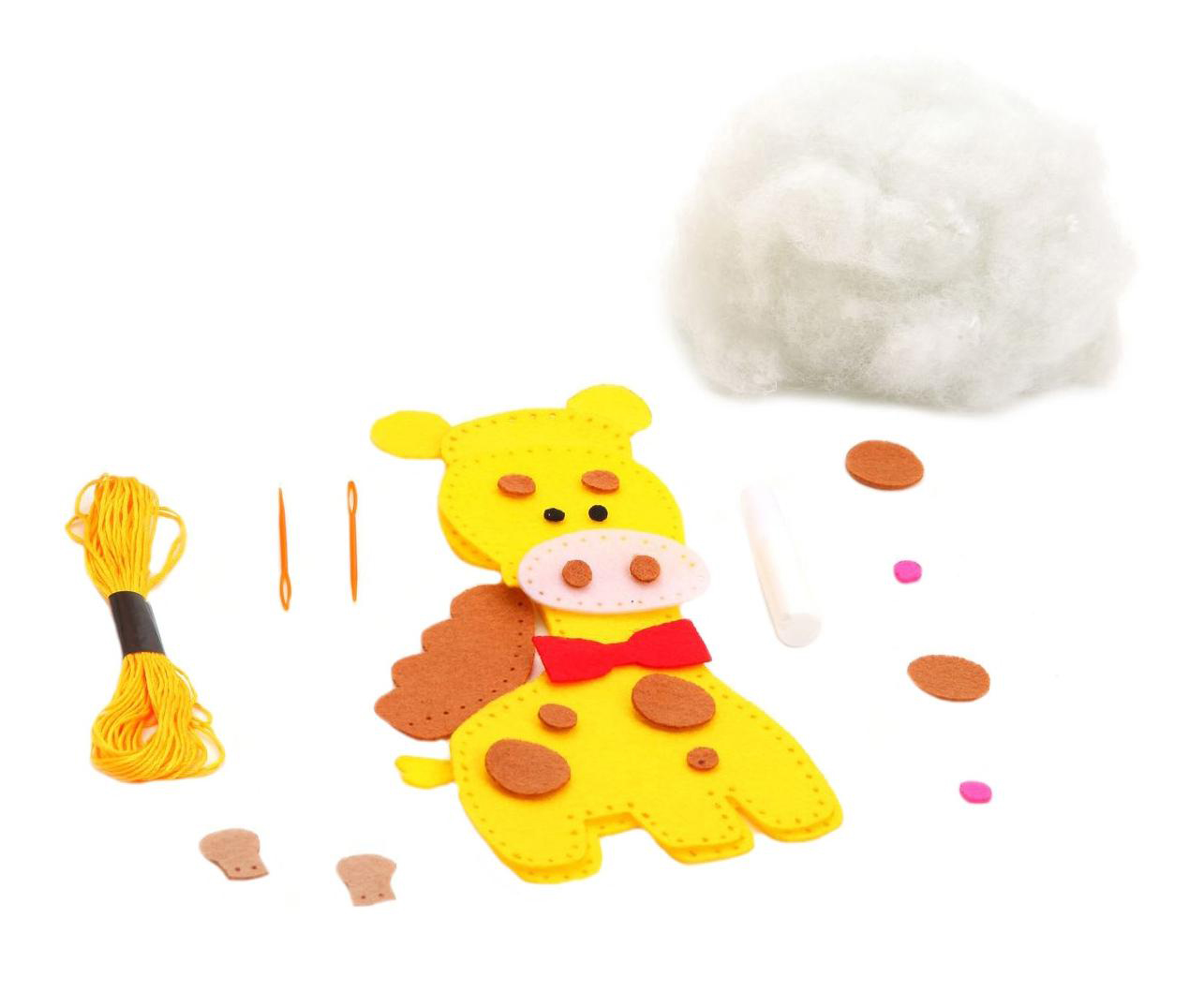 Набор для творчества Bondibon мк игрушка из фетра. жираф