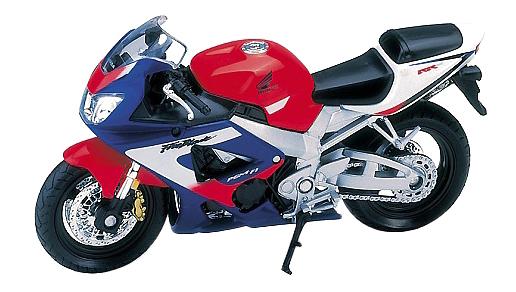 Купить Honda CBR900RR FIREBLADE, Коллекционная модель Welly 12164p 1:18, Игрушечные мотоциклы