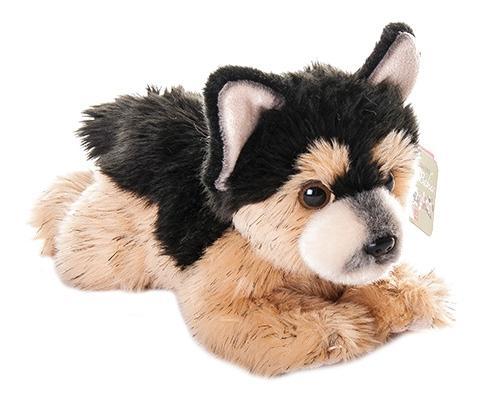 Купить Немецкая овчарка щенок, Мягкая игрушка Aurora 22-106 Немецкая Овчарка Щенок 22 см, Мягкие игрушки животные