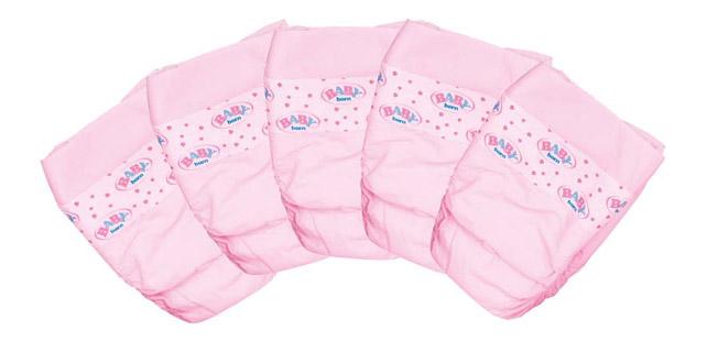 Купить Подгузники 5 шт. Baby Born Zapf Creation 815-816, Аксессуары для кукол