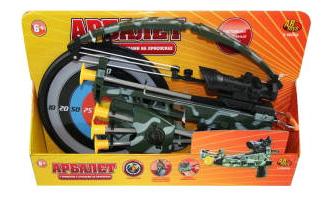 Арбалет ABtoys со стрелами на присосках