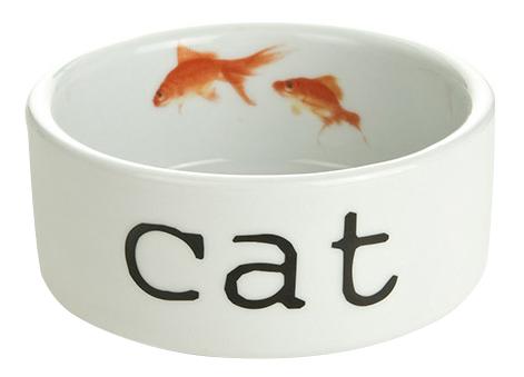 Одинарная миска для кошек Beeztees керамика белый 0.3 л.