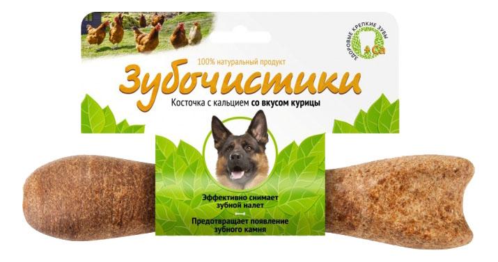 Лакомство для собак Деревенские лакомства Зубочистики, с курицей, для крупных пород, 265г